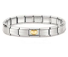 Classic Genuine Nomination Bracelet With Raised Heart Charm RRP £54.00