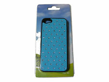 BLU BRILLANTI FINTO DIAMANTI TELEFONO CELLULARE IPHONE 5 CUSTODIA IPHONE5 NUOVO