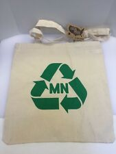 Local Pride Todd Snyder Minnesota MN Recycle Logo Canvas Cotton Tote Bag New