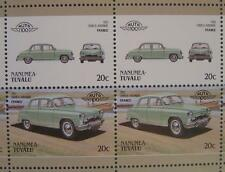 1951 SIMCA ARONDE Car 50-Stamp Sheet / Auto 100 Leaders of the World