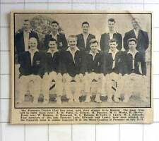 1963 Penzance Cricket Club First Team With Their Skipper Irvin Roberts