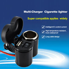 New Waterproof  Motor Electric Bike Cell Phone Multi-Charger Cigarette Lighter
