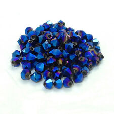 200pcs bicone crystal glass loose 4mm beads 50 Colors hot