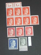 Germany (Adolf Hitler) stamps all mint plus block of seven (i do combine p&p) 3