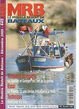 MODELE REDUIT DE BATEAU N°445 LE JEANINE ET GEORGE / INSHORE / ETUVE A BORDAGES
