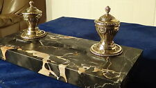 A SUPERB LARGE ANTIQUE DESK SET / INKWELL,TOP QUALITY CIRCA 1890 & FREE UK P&P !
