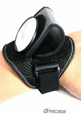 Side view mirror on a Wrist Band - black - convertible
