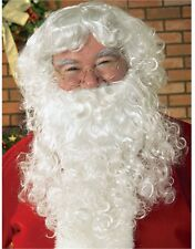 New Christmas Santa Claus Costume Beard With Wig Set