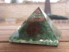 EXTRA LARGE (70-75mm) GREEN AVENTURINE ORGONE GEMSTONE X-LARGE PYRAMID ORGONITE