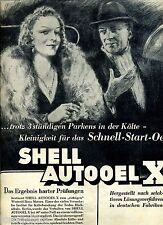 Shell--Autooele X--trotz 3 stündigen Parkens in der Kälte --Werbung von 1938