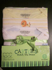 Carter's Watch The Wear Bodysuits 3 pack Small 0-3 months Lions Tigers Animals