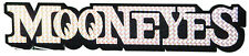 Mooneyes Script Metal Flake Sparkle Decal Adhesive on Back Small