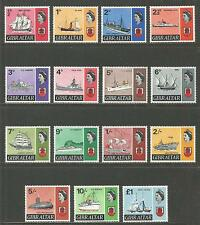 Gibraltar 1967-69 Queen Elizabeth II/Famous Ships definitives (186-99) MH