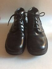 Dr Martens Black Leather Ankle Boot Lace Up Shoes Size 11 Mens Doc AS IS