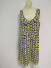 Boden Yellow Navy Sea Shell Cotton Sleeveless Dress UK 16 US 12 Large