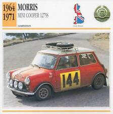 1964-71 AUSTIN MORRIS MINI COOPER 1275S Racing Classic Car Photo/Info Maxi Card