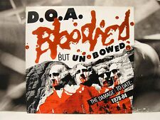 D.O.A. - BLOODIED BUT UNBOWED - THE DAMAGE TO DATE: 1978-84 LP UNPLAYED VIRUS 31