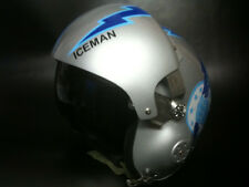 TOP GUN ICEMAN FLIGHT HELMET MOVIE PROP FIGHTER PILOT DECALS STICKERS STRIPES