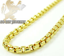 14K YELLOW GOLD ITALIAN BOX CHAIN NECKLACE LADIES 22in
