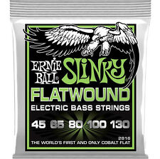 Ernie Ball 2816 Cobalto Flatwound Regular Slinky 5 - Cuerda Graves 45-130