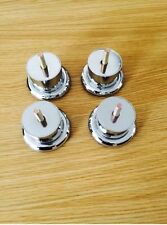 4x CHROME FEET 50mm - FURNITURE FEET/LEGS for SOFAs, BEDS, CHAIRS, SETTEE