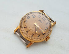 OLD russian mechanical watch  POBEDA. ZIM. GOLD plated. RARE USSR.
