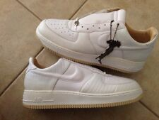 NEW  MEN AIR FORCE 1  LOW WHITE STRAW ITALIAN LEATHER