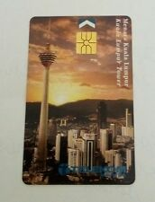 Malaysia TM KL Tower Phone Card  电话卡 Sunset View