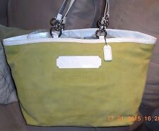 Coach Large Gallery Tote w/White Patent Trim