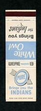 Radio Station WERE Cleveland OH Unused Matchcover Indians Baseball Pure Gas