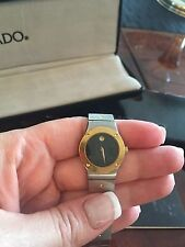 Vintage Movado Stainless Steel Watch Two Tone-Ladies watch