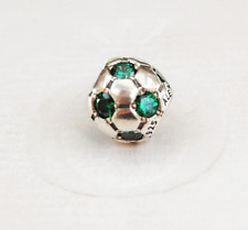 Genuine Pandora Green Soccer Ball Charm  790444CZN - retired