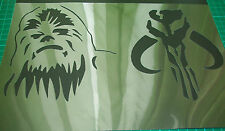 NEW M18 2in1 AIRBRUSH STENCILS STAR WARS CHEWBACCA Paint T-Shirt Craft Movie