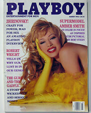 Playboy Magazine March 1995 Amber Smith Stacy Sanches Naked Stuntwomen