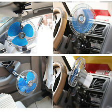 New Portable 12Volt 6Inch Car Cooling Fan with Clip Switch Outdoor Camping SE