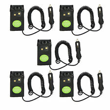 5x Car charger Battery Eliminator Adaptor For Wouxun Radio KG-UVD1P KG-UV6D Hot
