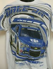 Dale Earnhardt Jr Nationwide Total Print White T-Shirt From CFS - XXL Free Ship
