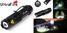 Ultrafire Zoomable Cree Q5 2000Lumen Mini LED Flashlight Focus Torch Light Lamp