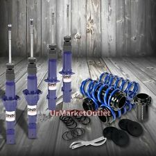 DNA Blue Gas Shock Absorber+Blue/Black Adjustable Coilover For Honda 92-95 Civic