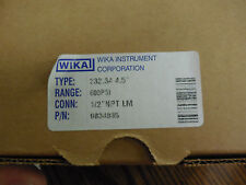 "NEW WIKA 9834885 Process Pressure Gauge 600 psi 1/2""NPT 232.34 4.5"""