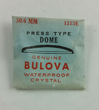 VINTAGE BULOVA PRESS TYPE LOW DOME WATCH CRYSTAL - 30.6mm - PART# 1215E