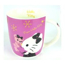 Sanrio Hello Kitty Ceramic Mug Cup : Winter Pink Bear (420ml)