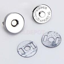 New 10sets Sewing Buttons Magnetic Clasps for Bag Handbag Clothes DIY Craft 14mm