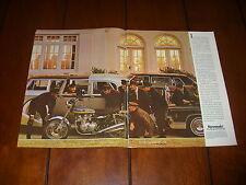 1975 KAWASAKI Z1 900 -  ORIGINAL 2 PAGE AD