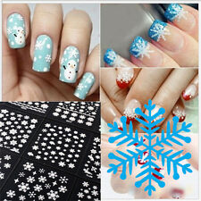 New Fashion 12 Sheets Snowflake 3D Nail Art Stickers Decoration Xmas Gift