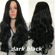 "25"" Half Wig Clip in Hair Curly Wave Straight Synthetic Wigs Heat Resistant Wigs"
