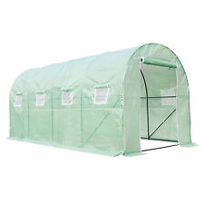 Heavy Duty Walk In Green House Cover Frame Dome Kit Plant Garden 16'x7'X7'