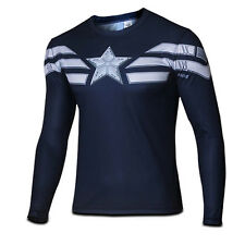 Men Superhero 3D Print T-Shirt Pro Tops Slim Fit Athletic Cycling Blouse Costume