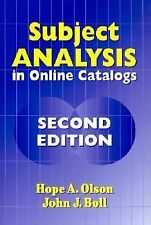 Subject Analysis in Online Catalogs by John J. Boll and Hope A. Olson (2001,...