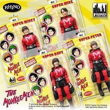 The Monkees; MONKEE MEN Outfit; SET OF 4; 8 INCH ACTION FIGURES LICENSED NEW